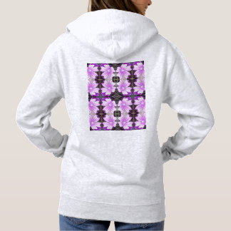 Mauve Ground Flower 706A Fractal Hoodie (Ash)