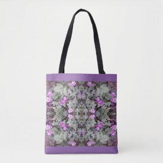 Mauve Ground Flower Fractal 2 Tote Bag