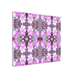 Mauve Ground Flower Fractal 706 Canvas small