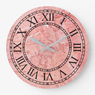 Mauve Marble Wall Clock by Julie Everhart