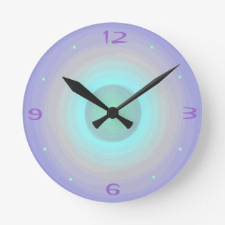 Mauve Rainbow Pastel > Patterned Clock