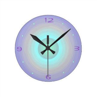 Mauve Rainbow Pastel > Patterned Clock