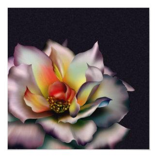 Mauve Rose 13 Cm X 13 Cm Square Invitation Card