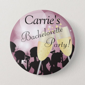 Mauve Rose Bachelorette Diva Girls Night Out 7.5 Cm Round Badge