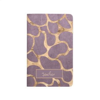 Mauve rose gold sophisticated girly pattern journal