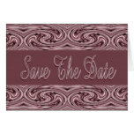 Mauve Save the Date Cards