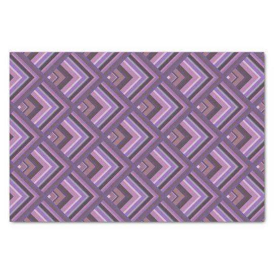 Mauve stripes scale pattern tissue paper