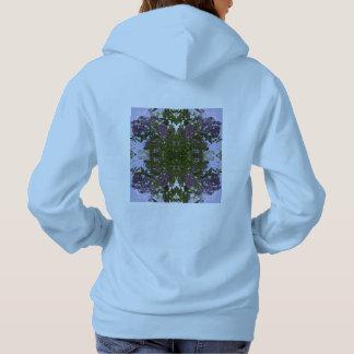 Mauve Tree Flower & Sky Fractal Hoodie (Blue)