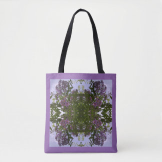 Mauve Tree Flower & Sky Fractal Tote Bag