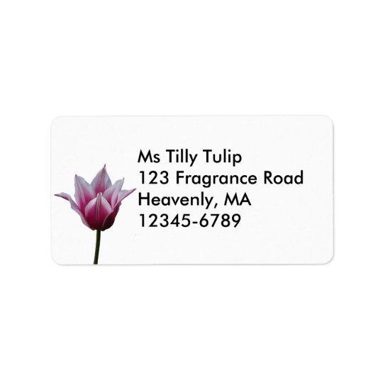 Mauve Tulip ~ label Address Label