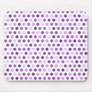 Mauve, Violet Purple, White Polka Dots Mouse Pad