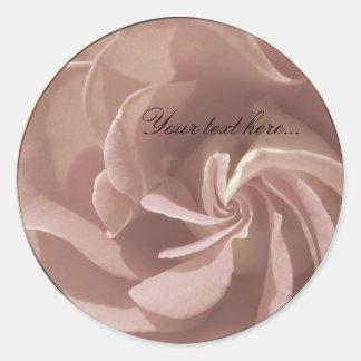 Mauve Wedding Flowers Stickers Envelope Seals Stickers