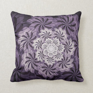 Mauve & White Floral Abstract Art Throw Pillow