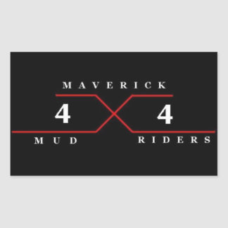 Maverick Mud Riders Rectangular Sticker