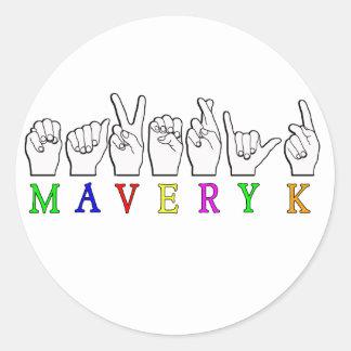 MAVERYK   NAME ASL FINGER SPELLED STICKERS