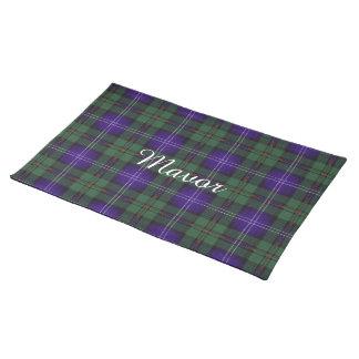 Mavor clan Plaid Scottish kilt tartan Placemat