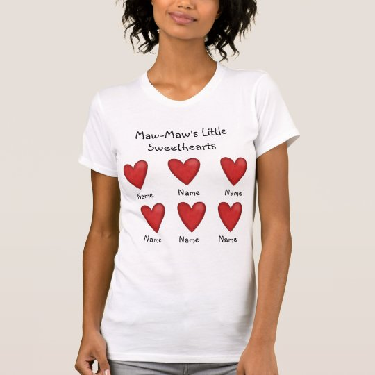 Maw-Maw's Little Sweethearts Ladies Top Template