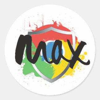 Max Chrome Stickers
