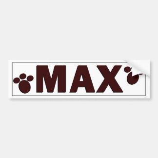 """Max"" Dog Bowl Sticker Bumper Sticker"