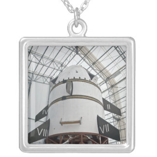 Max Launch Abort System vehicle Silver Plated Necklace