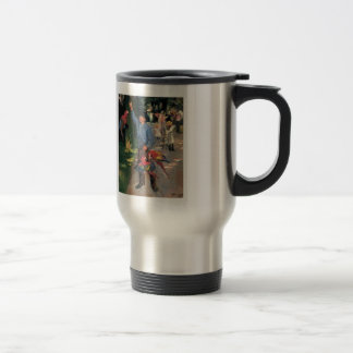 Max Liebermann- Man with parrots 15 Oz Stainless Steel Travel Mug