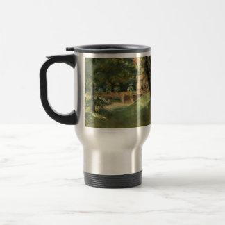 Max Liebermann- Overlooking the garden in Wannsee 15 Oz Stainless Steel Travel Mug