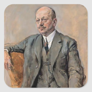 Max Slevogt- Portrait of Julius Freund Square Sticker