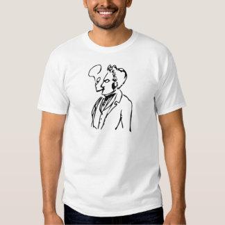 Max Stirner Smoking (Black on White) T-shirts