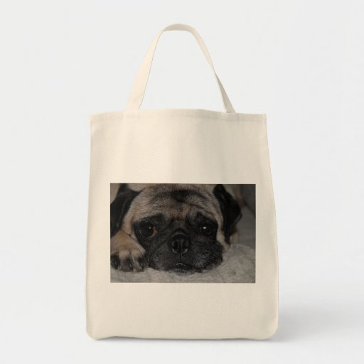Max The Pug On A Rug Grocery Tote Bag
