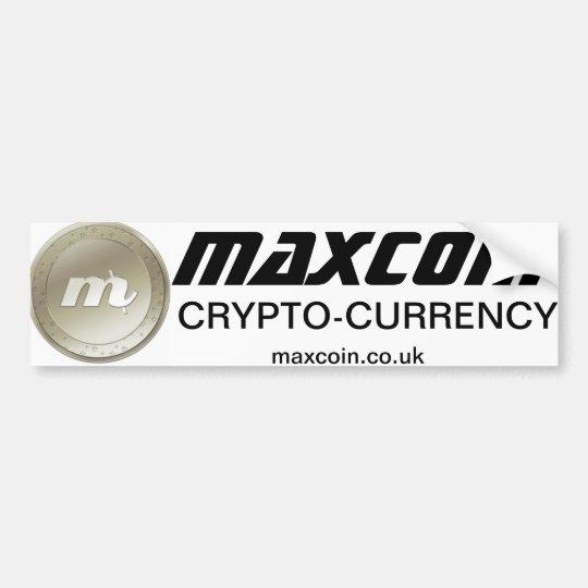 Maxcoin Bumper sticker