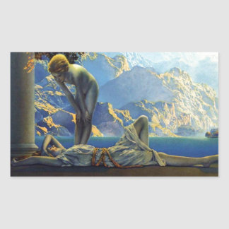 Maxfield Parrish Daybreak Rectangular Sticker