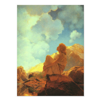 Maxfield Parrish Morning, Spring, Vintage Fine Art Personalized Invitation