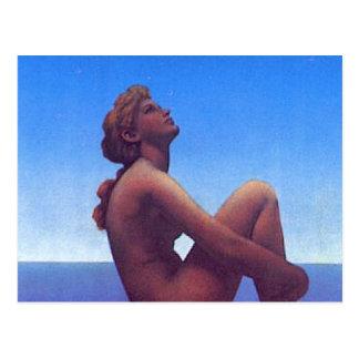 """""""Maxfield Parrish Stars"""" Postcard"""