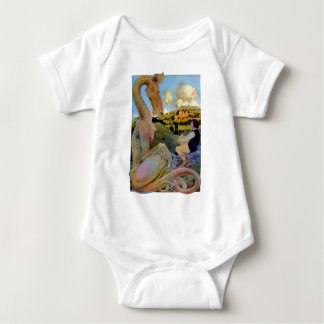Maxfield Parrish's Conversation with a Dragon Baby Bodysuit