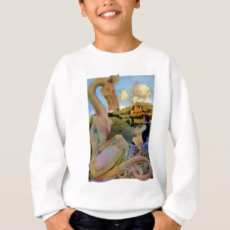 Maxfield Parrish's Conversation with a Dragon Sweatshirt