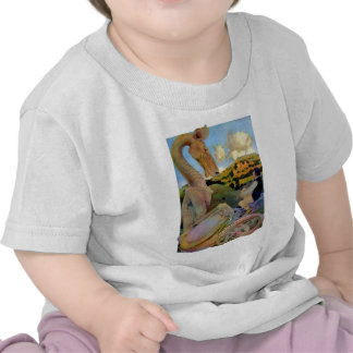 Maxfield Parrish's Conversation with a Dragon Tee Shirt