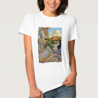 Maxfield Parrish's Conversation with a Dragon Tshirts