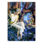 Maxfield Parrish's Fair Princess and the Gnomes Card