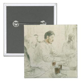 Maxim Gorky  Reading his Poem 'Children of 15 Cm Square Badge