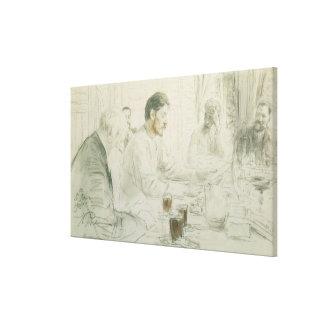Maxim Gorky  Reading his Poem 'Children of Canvas Print