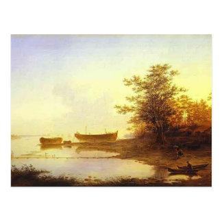 Maxim Vorobiev-Sunrise In Suburbs of Petersburg Post Card