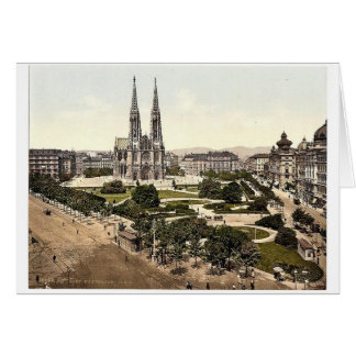 Maximilian Place, Vienna, Austro-Hungary magnifice Card