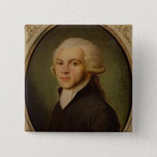 Maximilien de Robespierre  c.1793 15 Cm Square Badge