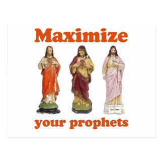 Maximise your prophets postcard
