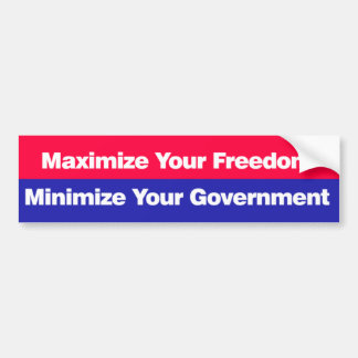 Maximize your freedom bumper sticker