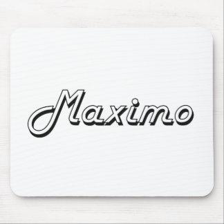 Maximo Classic Retro Name Design Mouse Pad