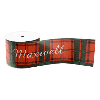 Maxwell clan Plaid Scottish tartan Grosgrain Ribbon
