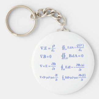 maxwell physics equation basic round button key ring