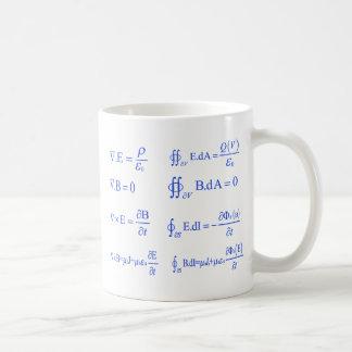 maxwell physics equation basic white mug