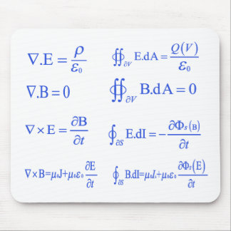 maxwell physics equation mouse mat